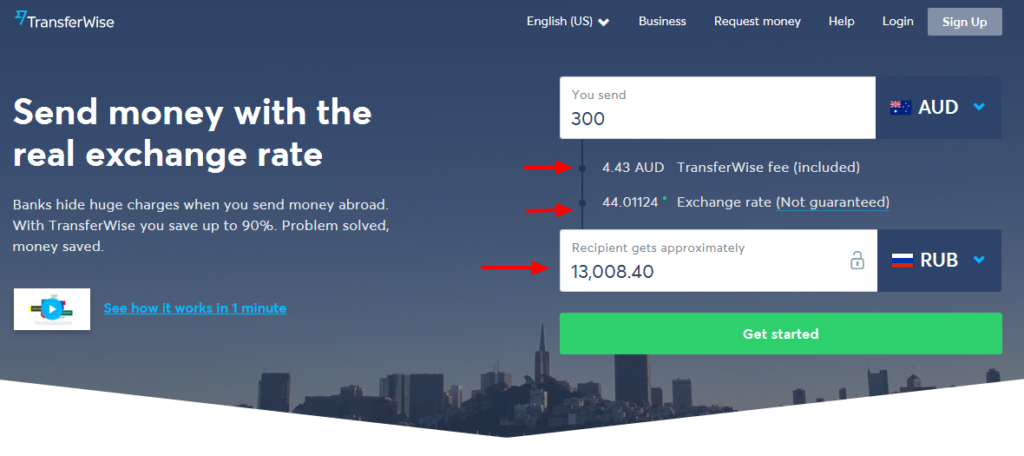 Transferwise Send Money To Russia From Australia