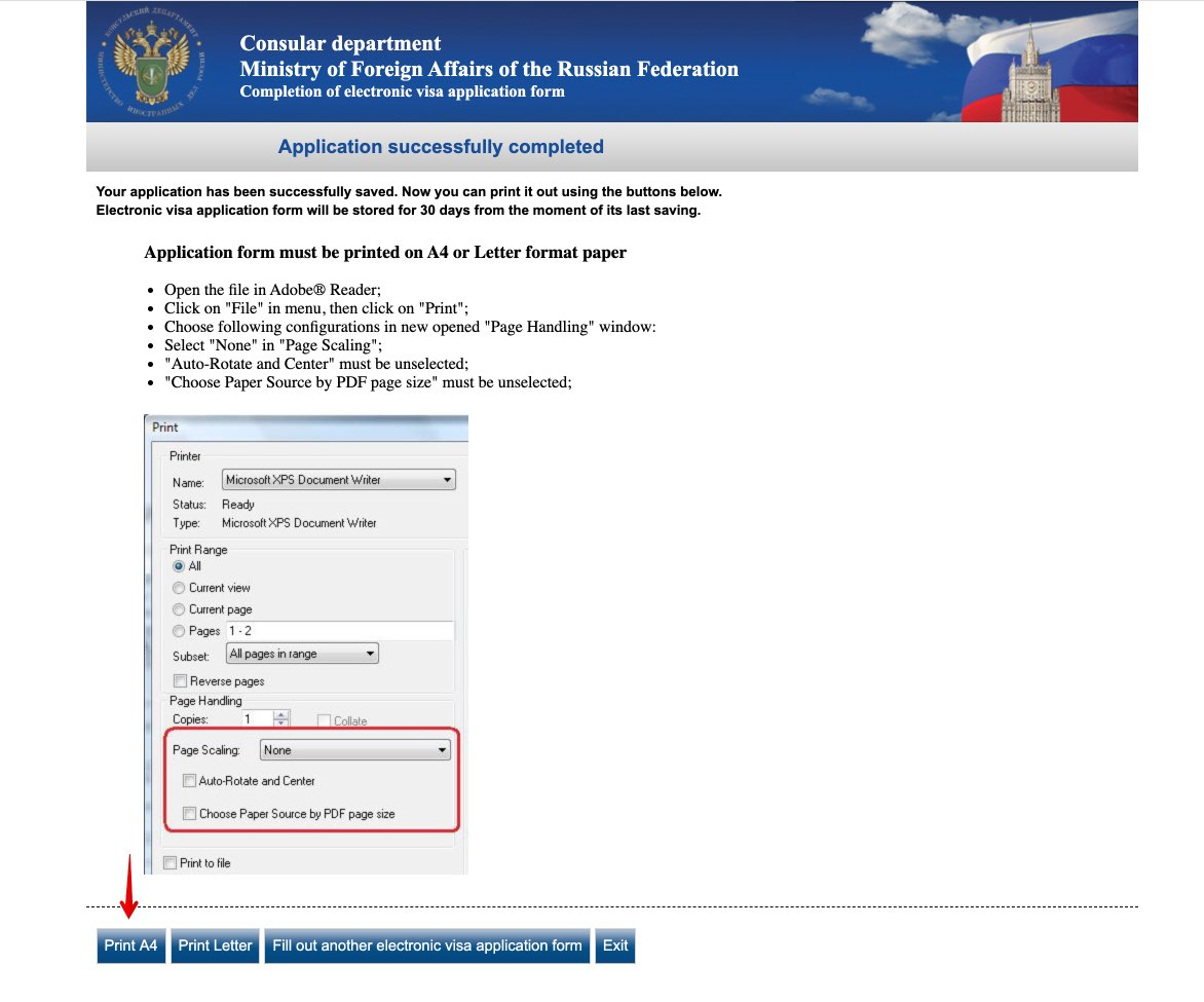 Get Russian visa in New Zealand - Completion of electronic visa application form 11