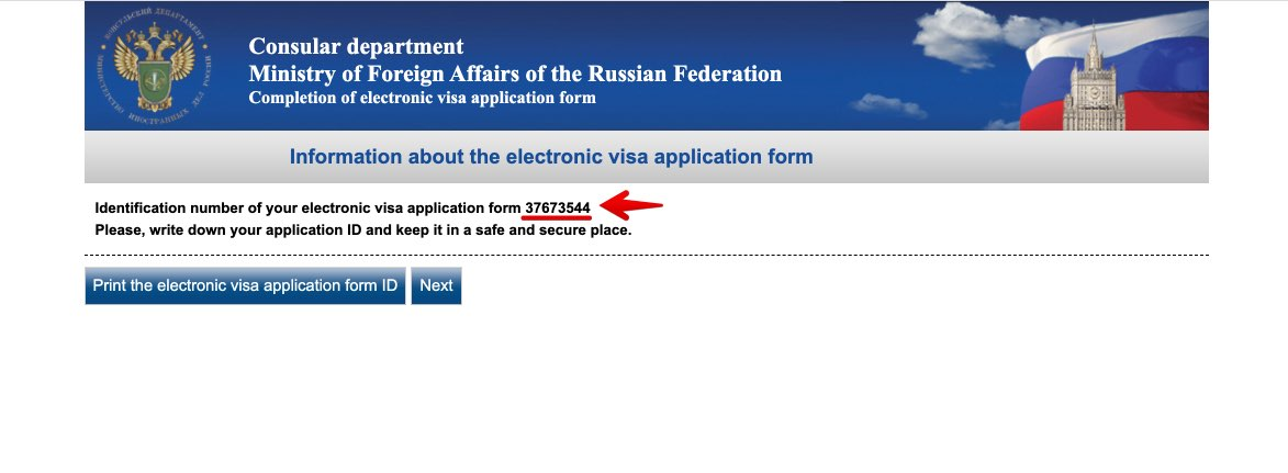 Get Russian visa in New Zealand - Completion of electronic visa application form 3